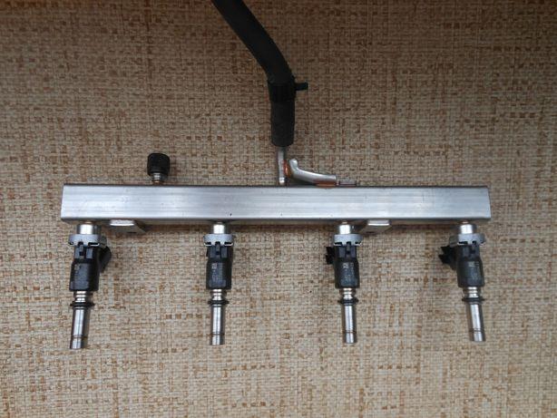 Рампа топливная с форсунками в сборе Ланос АКПП 1,4 DOHC