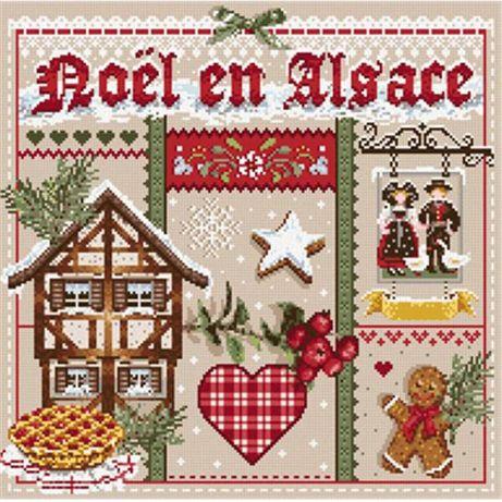 Madame la FeeРождество в Эльзасе,схема для вышивания крестиком,сэмплер