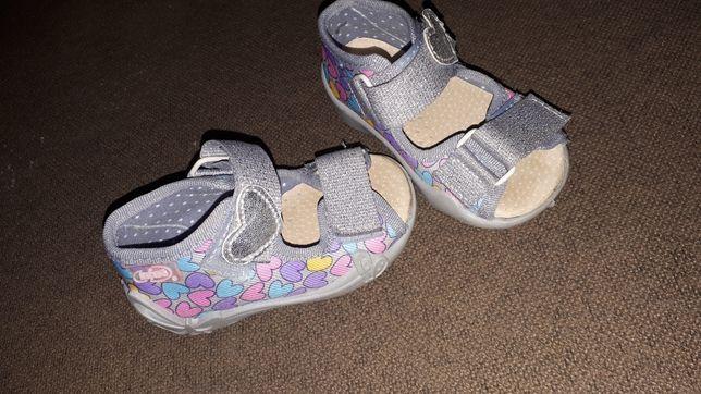Sandałki dziecięce dziewczynka befado 18
