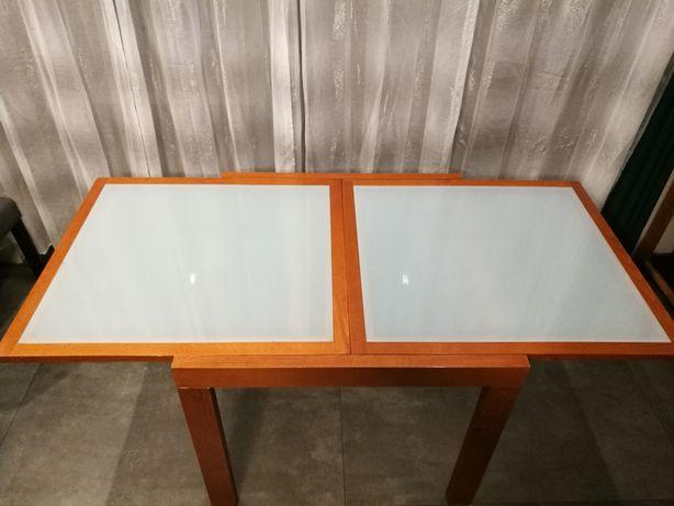 Stół rozkładany szklany blat 170cm+4krzesła