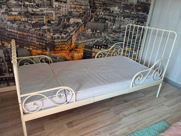 Łóżko IKEA MINNEN + materac + stelaż