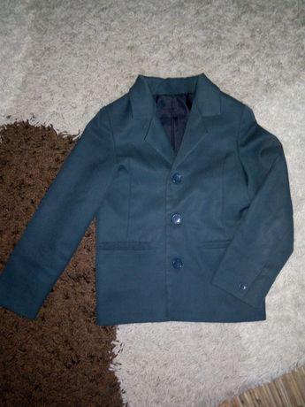 Зелёный школьный пиджак, 122-128, жилет