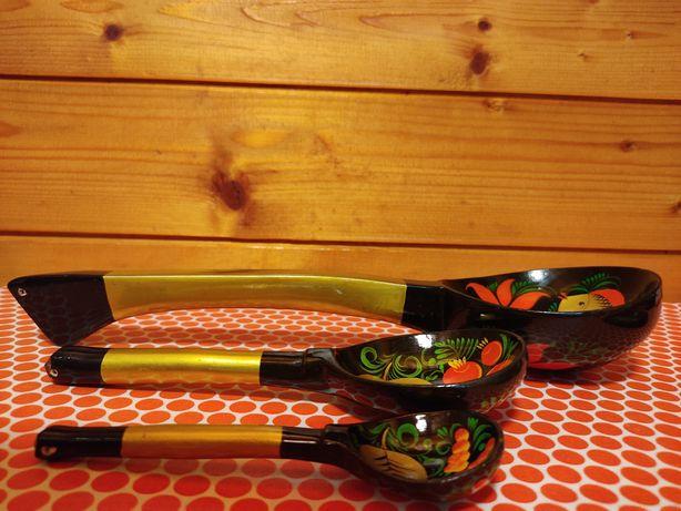 Łyżki drewniane ZSRR 3 sztuki