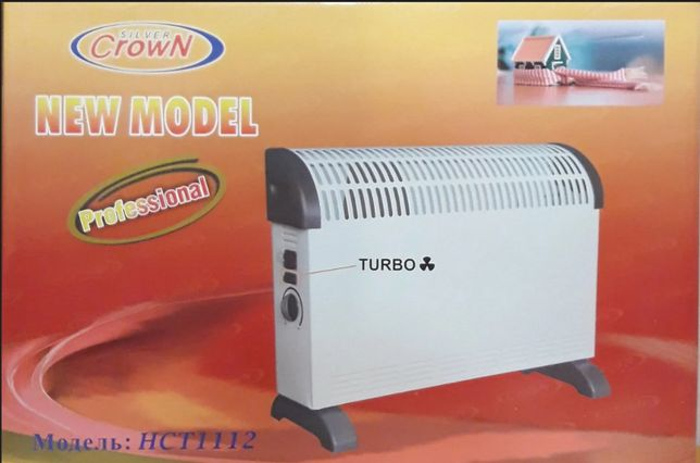 Конвектор с вентилятором Crown 2 кВт. Напольный, настенный обогревател
