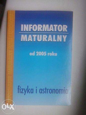 Informator maturalny od 2005 fizyka i astronomia. Arkusze maturalne