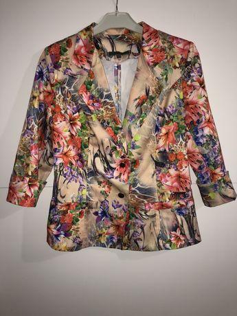 Пиджак атласный брюки класика костюм