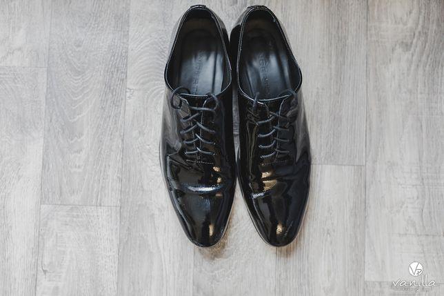 Buty - lakierki ślubne męskie