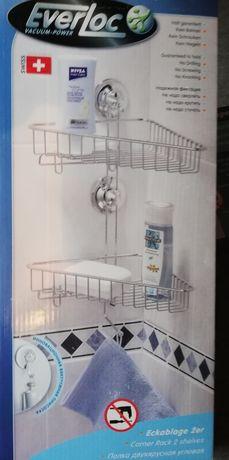 Zestaw łazienkowy bez wiercenia 5 elementów Nowy