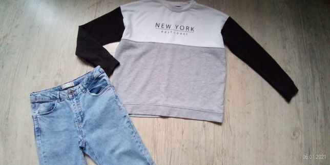 rurki ZARA girl + bluza New Look (11-12lat)