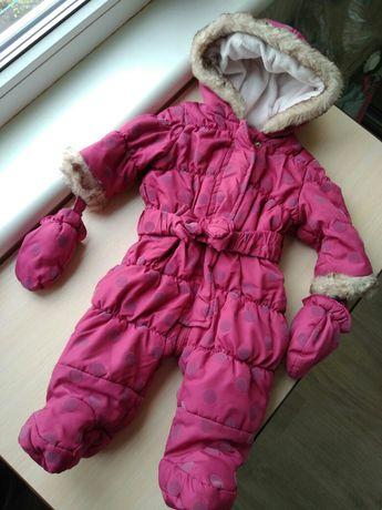 Комбинезон Matalan зимний осенний на девочку 3-6 месяцев деми куртка
