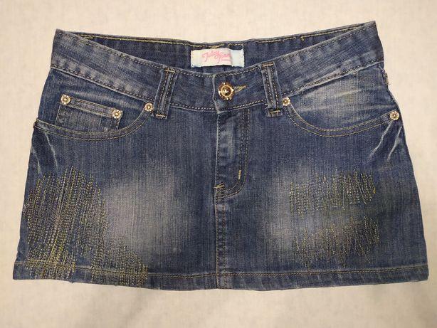Джинсовая мини юбка 25 размер