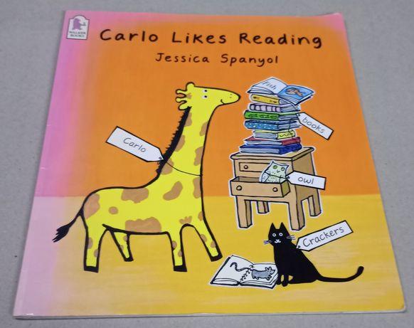 """Książka do nauki języka angielskiego pt. ,, Carlo likes reading """""""