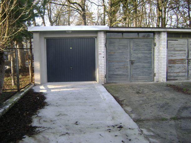 Garaż murowany nowy w zabudowie szeregowej