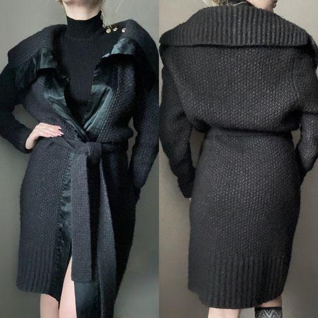 Дизайнерский теплый вязаный кардиган пальто claudia sträter