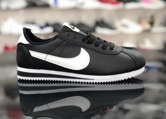 Nike Cortez/ Rozmiar 44 Czarne - Białe *WYPRZEDAŻ*