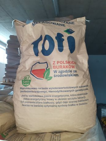 Wysłodki melasowane Tofi, papierowe worki 30kg ,produkcja 2021