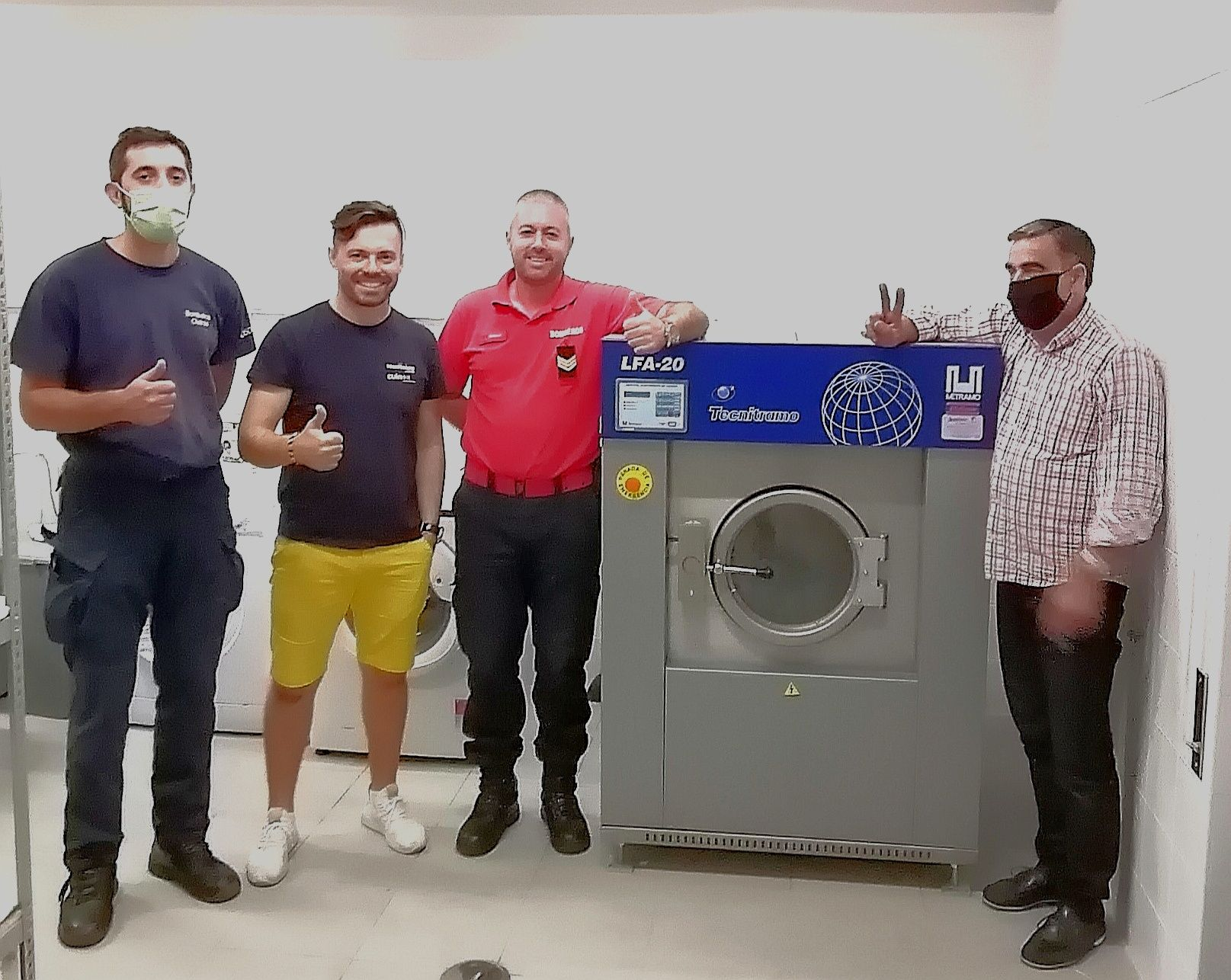 Bombeiros / casas de repouso/ Residências Sénior máquina de lavandaria
