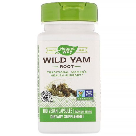 Nature´s Way корень дикого ямса. 850 мг, 100 веганских капсул.