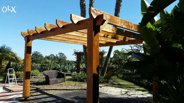 pergola em madeira Madeira&conforto