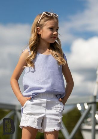 All for Kids top biało-niebieski w paski