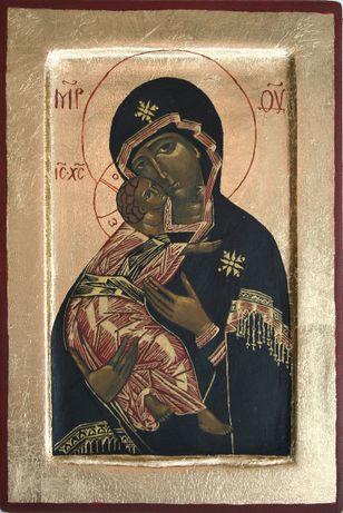 Ikona Matka Boska pisana ręcznie