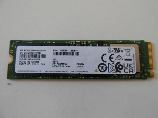 Disco SSD 256GB M2