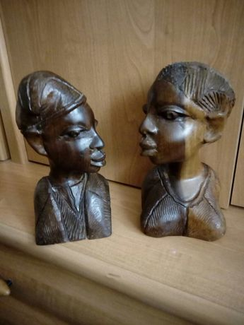 Африканские статуэтки Красное дерево Счастливая пара
