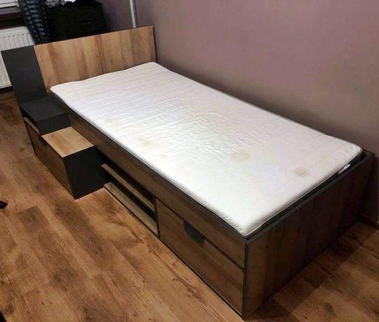 Tapczan Agata Meble z półkami i szufladami + materac Ikea