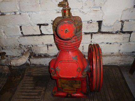 Kompresor,sprężarka angielski wóz strażacki przedwojenny