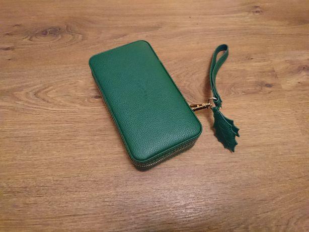 Nowa szkatułka skórkowa Pandora zielona