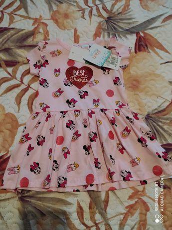 Vestido minnie para menina 9-12 meses