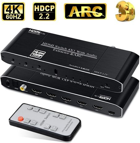 avedio links 4K 60Hz HDMI Switch 4 in 1 Out