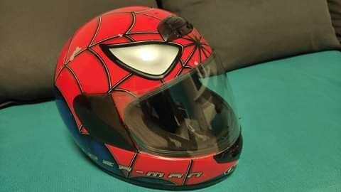 Kask HJC motocyklowy M 58 cm spider-man