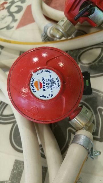 Redutores gás propano mais mangueiras novos