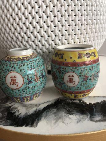 chińska porcelana,małe chińskie wazoniki