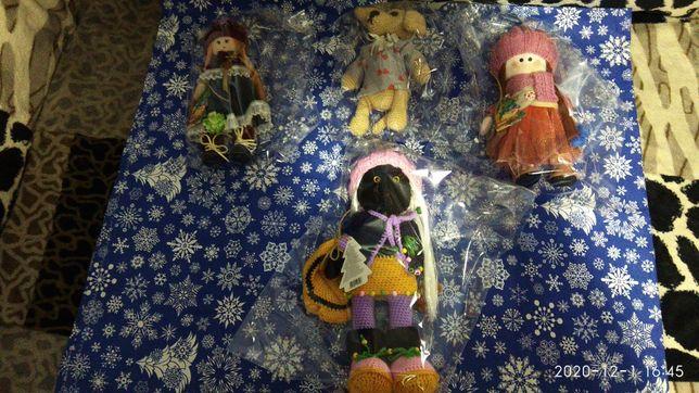 Куклы вязаные,и шитые