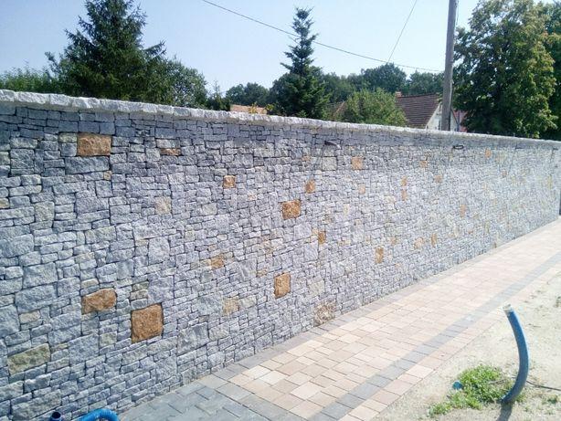 Kostka brukowa brukarstwo ogrodzenia kamienia naturalnego