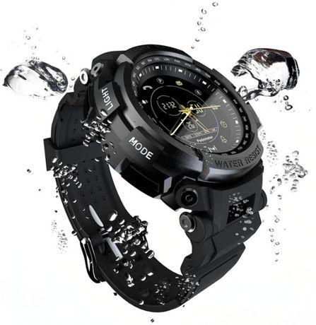 SmartWatch zegarek sportowy, masywny ze stopu stali, monitor zdrowia