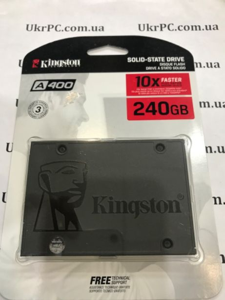 """Жесткий диск ССД ,SSD 240GB Kingston SSDNow A400 2.5"""" SATAIII"""