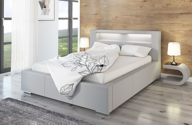 Łóżko TOKIO LED do sypialni 180x200 kolory stelaż pojemnik