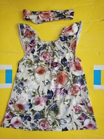 Платье с повязочкой для девочки