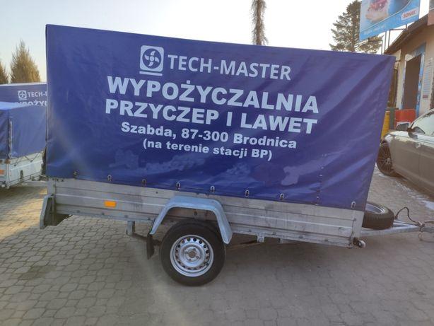 Tech-Master Wypożyczenie przyczepki jednoosiowej wysokiej DMC 750 40