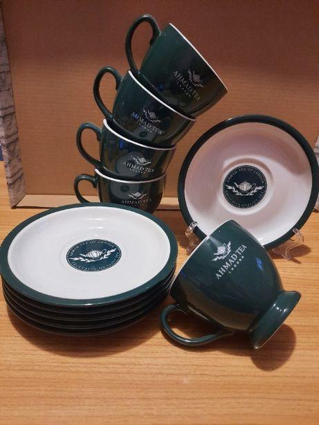 Komplet filiżanek do herbaty Ahmad Tea porcelana zestawy komplety