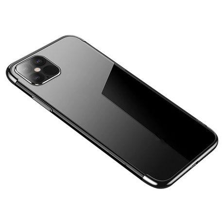 Capa Silicone Clear Color Electro Lmobile Iphone 12 Mini - Preto / Transparente