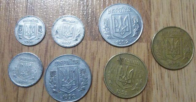 Продам 1, 2, 5, 50 копеек 1992 года.