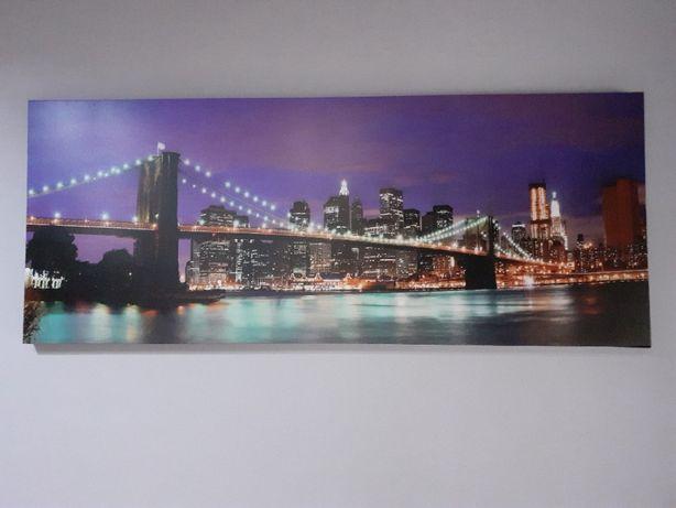 Obraz z widokiem na Nowy Jork - nadruk na płótnie 150x60