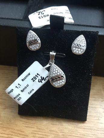 Śliczny komplet srebrny pr925 Idealny na Walentynki /pudełko gratis!