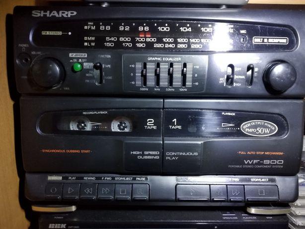 Раритетна магнітола SHARP,магнитофон у відмінному стані.