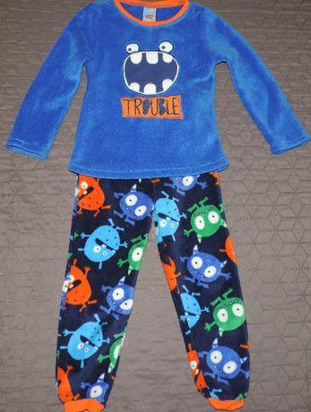 Polarowa piżama chłopięca potworki roz. 116-122 cm