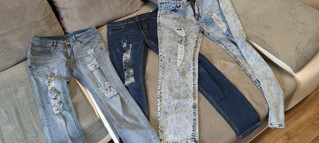 Spodnie męskie z dziurami
